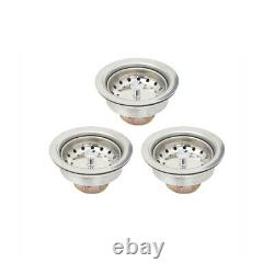 (3) Three Compartment Commercial Stainless Steel Sink 54 x 19.8 G