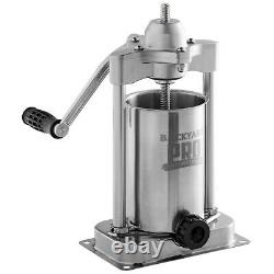 5 Lb Stainless Steel Commercial Vertical Manual Meat Sausage Stuffer Machine