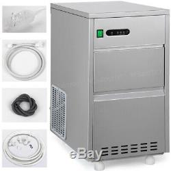 60LB/Day Countertop Commercial Electric Auto Bullet Ice Maker Machine Home Party