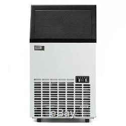 68KG Commercial Ice Maker Cube Stainless Steel Bar Restaurant Auto Freezer US