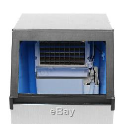 70KG 110V Commercial Ice Cube Maker Stainless Steel Machine Freezer Frozen Drink