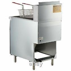 70 100 lb. NATURAL GAS Commercial Restaurant Stainless Steel Floor Deep Fryer