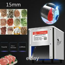850W Commercial Stainless Steel Meat Cutting Machines Cutters Slicer 5mm 220V