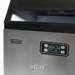 99lbs/hr Freestanding Ice Maker Commercial Built-in Ice Cube Stainless Steel