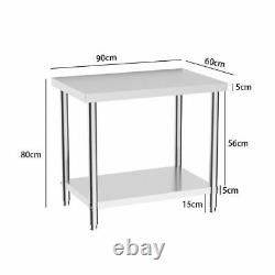 9 Style Stainless Steel Work Prep Table Station Commercial Kitchen Restaurant