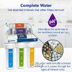 Alkaline Reverse Osmosis Water Filtration System Mineral RO Filter 50 GPD