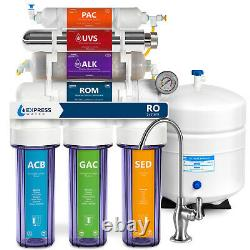 Alkaline Ultraviolet Reverse Osmosis Filtration System Clear + Gauge 100 GDP