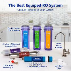 Alkaline Ultraviolet Reverse Osmosis Filtration System RO UV Clear 100 GDP