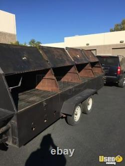 All Stainless Steel 4' x 16' Commercial Open Grill BBQ Pit Tailgating Trailer fo
