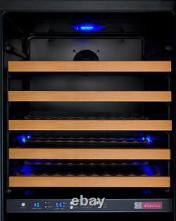 Allavino 172 Bottle Built-In Commercial Wine Cooler Refrigerator Dual Zone Black