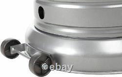 AmazonBasics 46,000 BTU Commercial Outdoor Patio Heater w Wheels Slate Gray