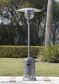 AmazonBasics Commercial Outdoor Propane Patio Heater 46,000 BTU Slate Grey