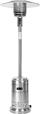 Amazon Basics Commercial Propane 46000 BTU Outdoor Patio Heater Stainless Steel