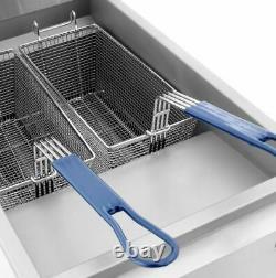 Atosa ATFS-40 Stainless Steel Deep Fat Fryer 40 LB Gas Commercial Propane LP