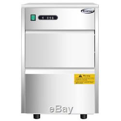 Automatic Ice Maker Stainless Steel 58lbs/24h Freestanding Commercial Home Use