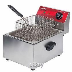 Avantco F100 10 lb Electric Restaurant Countertop Deep Fryer Commercial 120V