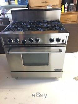 Beautiful Stainless Steel Garland 6-burner Commercial Stove