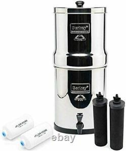 Big Berkey Water Filter with 2 Black Berkey Purifiers & 2 Berkey Fluoride NEW