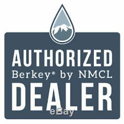 Big Berkey Water Filter with 2 Black Berkey Purifiers Factory Blemished NEW