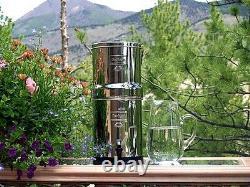 Big Berkey Water Purifier System with2 Black BB9-2 Filters BK4X2 Free Shipping