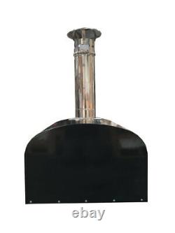 Black tripple insulated commercial rated portable wood fired pizza oven