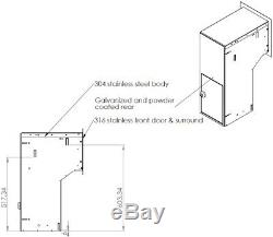 Brick in stainless steel parcel letterbox secure drop box mailbox brick insert
