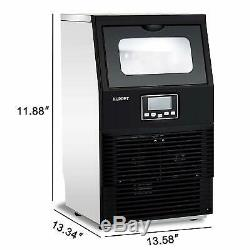 Built-in Commercial Ice Maker Portable Auto Ice Cube Machine Stainless Steel Bar