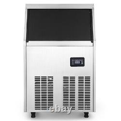 Built-in Commercial Ice Maker Stainless Steel Restaurant Ice Cube Machine