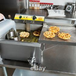 Carnival King 25 lb Funnel Cake Donut Elephant Ear Deep Fryer 120V Commercial