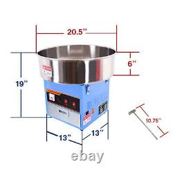 Clevr Large Commercial Cotton Candy Machine Party Candy Floss Maker Blue