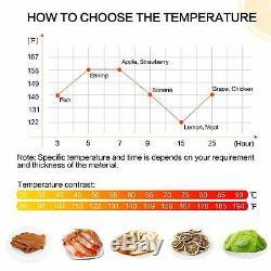 Commercial 10 Tray Stainless Steel Food Dehydrator 55L Fruit Meat Jerky Dryer
