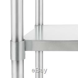Commercial 24 x 36 Stainless Steel Food Prep Work Table Kitchen Restaurant NSF