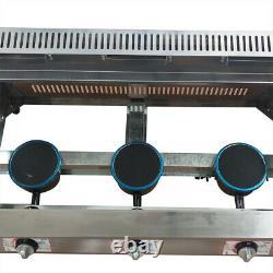 Commercial 3-Pan Food Warmer Steam Buffet Countertop Gas Fryer Steam Table USA