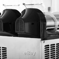 Commercial 3 Tank 15L Frozen Drink Slush Slushy Making Machine Smoothie Maker