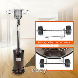 Commercial 48000 BTU Patio Heater Propane Outdoor Garden Heating Tall with Wheel