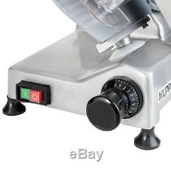 Commercial 8 Blade Electric Meat Slicer 240W 550RMP Home Deli Stainless Steel