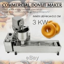 Commercial Automatic Donut Maker Making Machine Wide Oil Tank, Free 3 Sets Mold