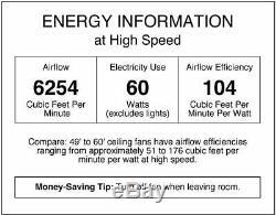 Commercial Ceiling Fan Industrial High Speed Garage Room Shop Heavy Duty Steel