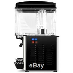 Commercial Cold Beverage Juice Dispenser Iced Stainless Steel 9.5 Gallon 2 Tanks