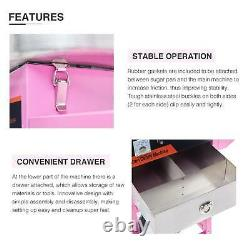 Commercial Cotton Candy Machine Candy Floss Maker With Cart Pink Party Carnival