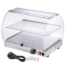 Commercial Countertop 20x16x15 Food Warmer Curved Acrylic Display Cabinet Case