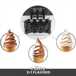 Commercial Countertop Frozen Soft Serve Ice Cream Maker Machine Mix Flavors 110V