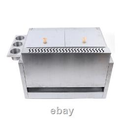 Commercial Countertop Gas Fryer Deep Fryer Propane(LPG) 2 Basket Stainless Steel