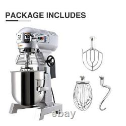 Commercial Dough Food Mixer 15Qt 3 Speed 600W Pizza Bakery Multifunction Blender
