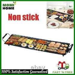 Commercial Electric Flat Top Grill Griddle Non Stick Stainless Steel Large 2000W