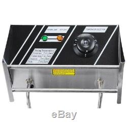 Commercial Electric Fryers 5000W 12L Countertop Dual Tank Restaurant Equipment