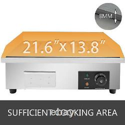 Commercial Electric Griddle Flat Top Grill 22 Hot Plate BBQ 3KW Countertop