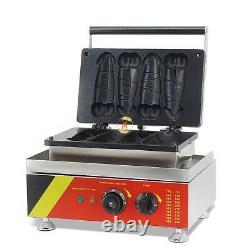 Commercial Electric Hot Dog Baker Pene Hot Dog Waffle Maker Iron Machine