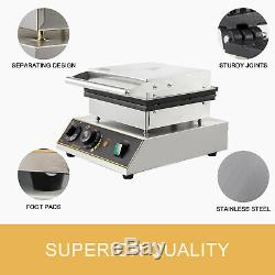 Commercial Electric Mini Round Waffle Maker Baker 50300 With Timer Wire Jacket
