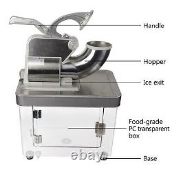 Commercial Electric Snow Cone Machine Stainless Steel Ice Crusher 660lbs 2 Blade